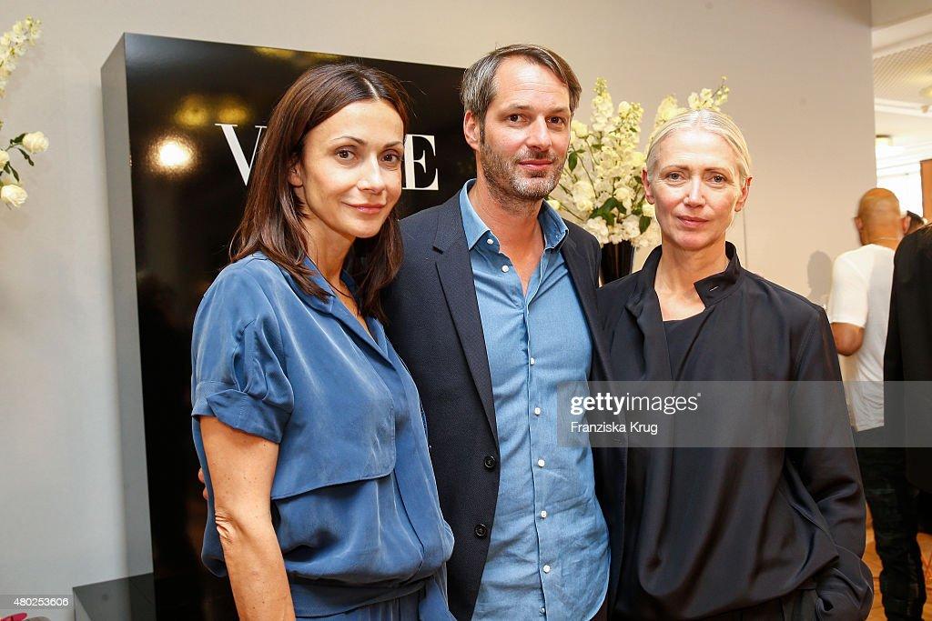 Anita Tillmann, Markus Kurz and Christiane Arp attend Der Berliner Modesalon on July 10, 2015 in Berlin, Germany.
