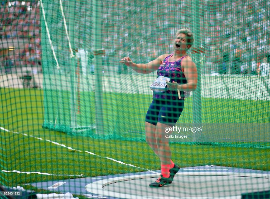 Anita Wlodarczyk during the European Athletics Meeting Kamila Skolimowska Memorial at the National Stadium on August 15, 2017 in Warsaw, Poland. It is the 8th edition of the Warsaw Memorial organized since 2009.