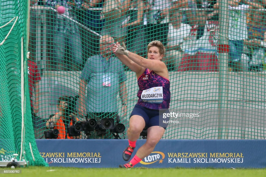Anita Wlodarczyk (POL), in action during the 5th Kamila Skolimowska Memorial of athletics in Warsaw, Poland, on 15 August, 2017.