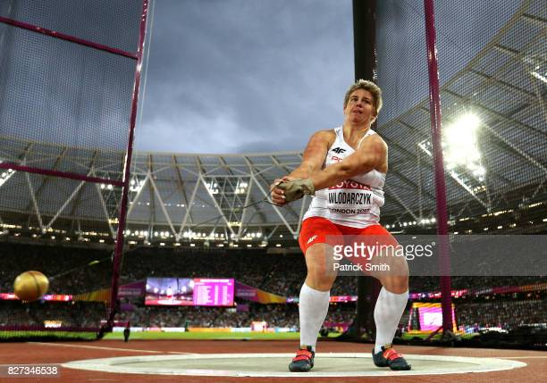 Anita Wlodarczyk of Poland competes in the Women's Hammer final during day four of the 16th IAAF World Athletics Championships London 2017 at The...