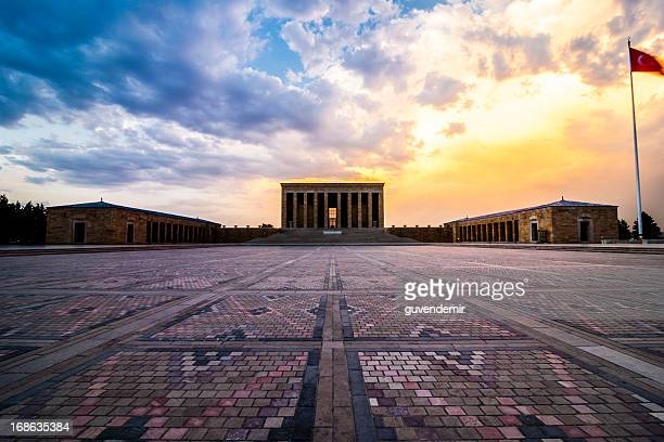 anitkabir at dusk - ataturk stock photos and pictures