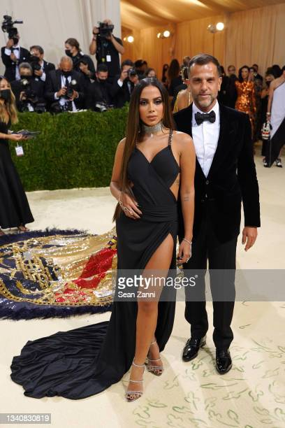 Anitta and Alexandre Birman attend 2021 Costume Institute Benefit - In America: A Lexicon of Fashion at the Metropolitan Museum of Art on September...