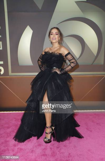Anitta arrives at Univision's 31st Edition Of Premio Lo Nuestro A La Musica Latina Pink Carpet at American Airlines Arena on February 21 2019 in...