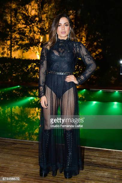 Anitta attend the 7th Annual amfAR Inspiration Gala on April 27 2017 in Sao Paulo Brazil