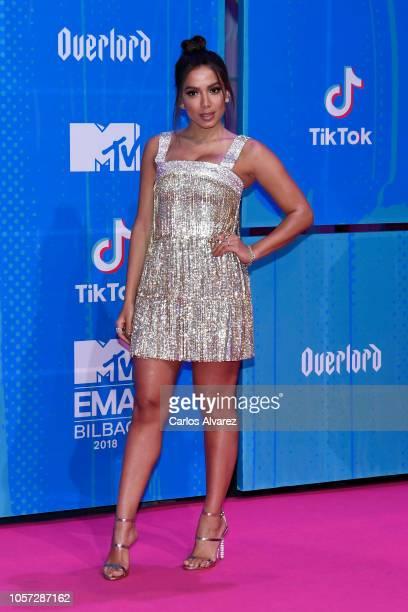 Anitta attends the MTV EMAs 2018 at Bilbao Exhibition Centre on November 4 2018 in Bilbao Spain