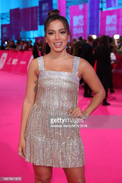 Anitta attends the MTV EMAs 2018 on November 4 2018 in Bilbao Spain