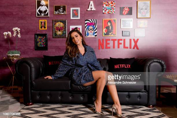 Anitta during the Netflix Vai Anitta Press Conference on November 12 2018 in Sao Paulo Brazil