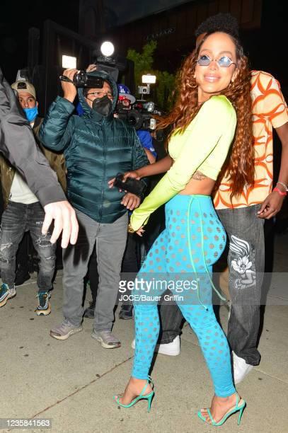 Anitta is seen on October 12, 2021 in Los Angeles, California.