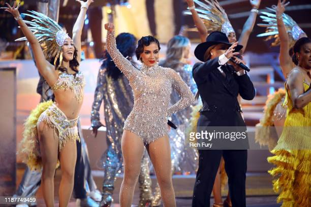 Anitta Olga Tanon and Milly Quezada performs onstage during the 20th annual Latin GRAMMY Awards at MGM Grand Garden Arena on November 14 2019 in Las...