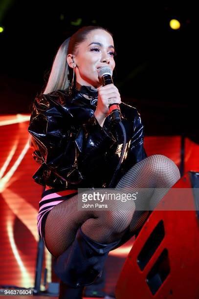 Anitta performs at Miami Bash 2018 at American Airlines Arena on April 14 2018 in Miami Florida