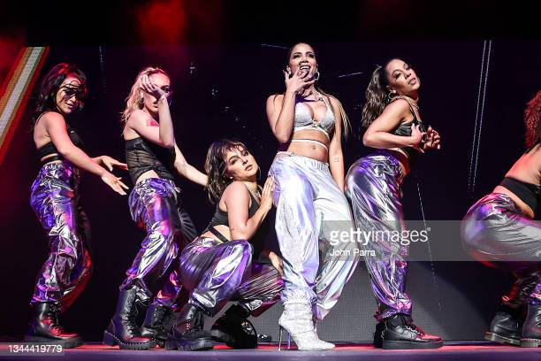 Anitta performs during the Uforia Mix Live 2021 at FTX Arena on October 01, 2021 in Miami, Florida.