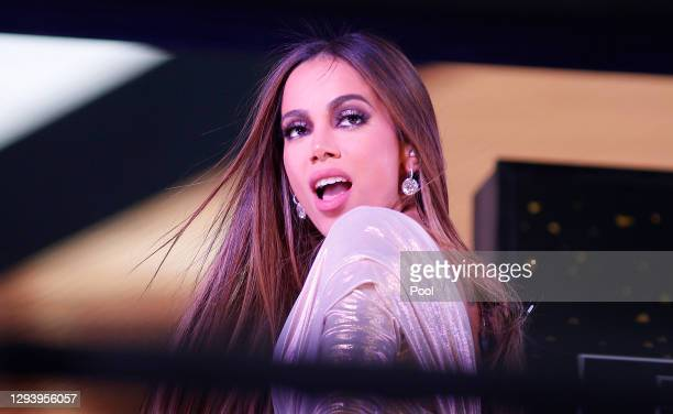 Anitta performs live from Times Square during 2021 New Year's Eve celebrations on December 31, 2020 in New York City.
