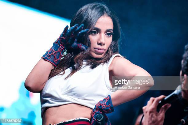 Anitta performs live on stage during day 6 of Rock In Rio Music Festival at Cidade do Rock on October 5, 2019 in Rio de Janeiro, Brazil.