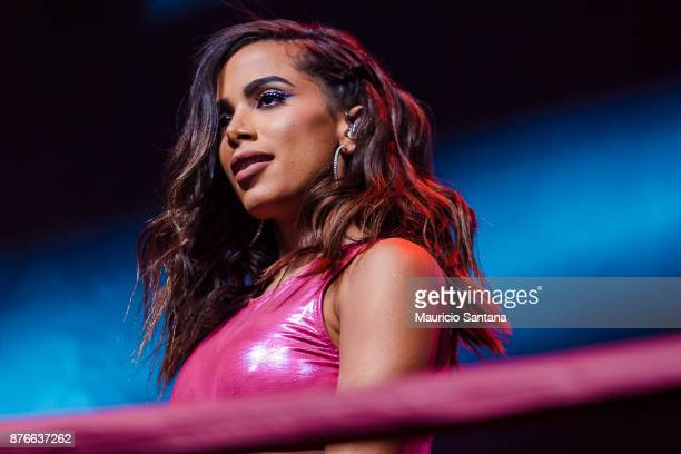 Anitta performs live on stage in Combatchy at Espaco das Americas on November 19 2017 in Sao Paulo Brazil