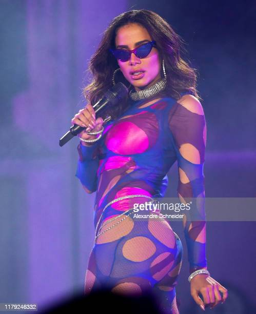 Anitta performs on stage during Rock in RIo 2019 Day 6 at Cidade do Rock on October 05 2019 in Rio de Janeiro Brazil