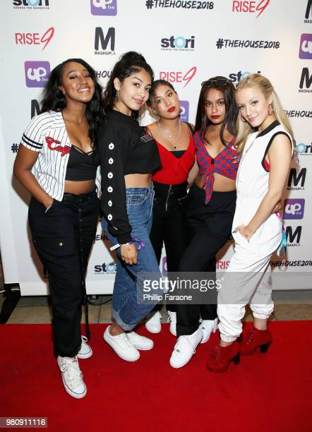 Aniya Ashanti attends the #TheHouse2018 Presented by Rise9 and Mashup LA on June 21 2018 in Anaheim California