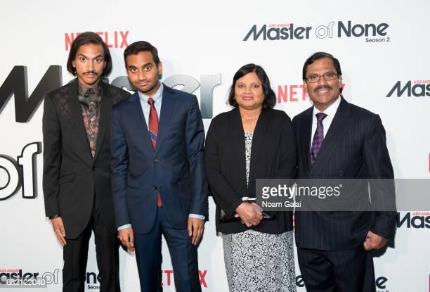 Aniz Ansari Aziz Ansari Fatima Ansari and Shoukath Ansari attend Master Of None Season 2 premiere at SVA Theatre on May 11 2017 in New York City