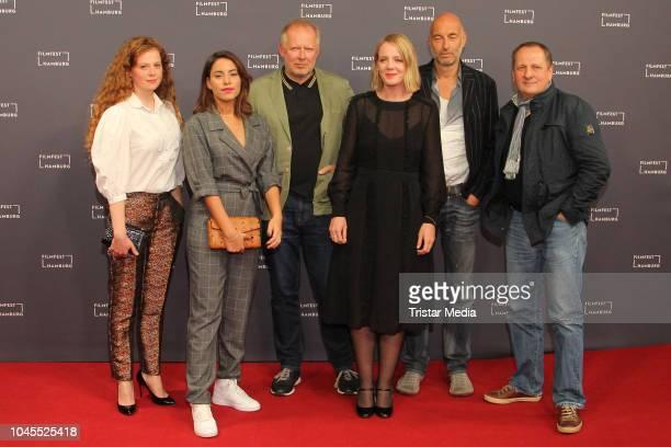 Anja Antonowicz Almila Bagriacik Axel Milberg Katrin Wichmann Andreas Kleinert and Thomas Kuegel attend the 'Borowski und das Glueck der Anderen'...
