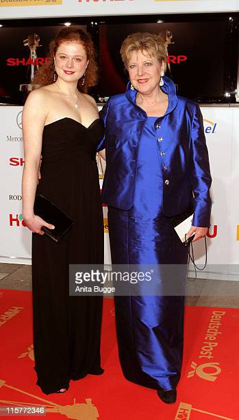 Anja Antonowicz and Marie-Luise Marjan during 2007 Die Goldene Kamera Awards - Arrivals at Axel-Springer-Verlag in Berlin, Berlin, Germany.