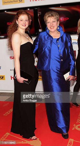 Anja Antonowicz and MarieLuise Marjan during 2007 Die Goldene Kamera Awards Arrivals at AxelSpringerVerlag in Berlin Berlin Germany