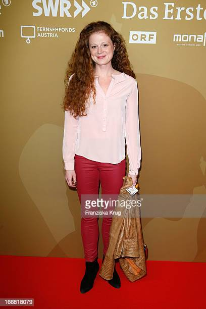 Anja Antonowicz attends the 'Die Ausloeschung' Premiere at Astor Film Lounge on April 17, 2013 in Berlin, Germany.