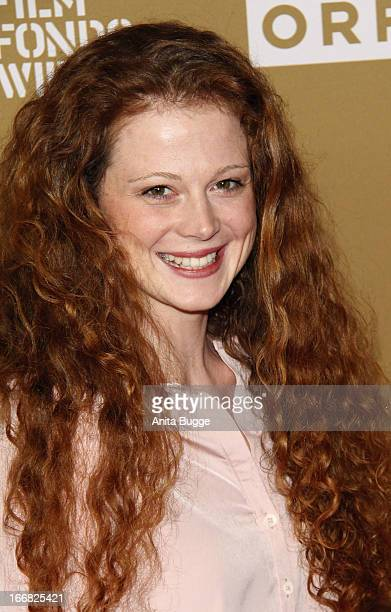Anja Antonowicz attends the 'Die Ausloeschung' premiere at Astor Film Lounge on April 17 2013 in Berlin Germany