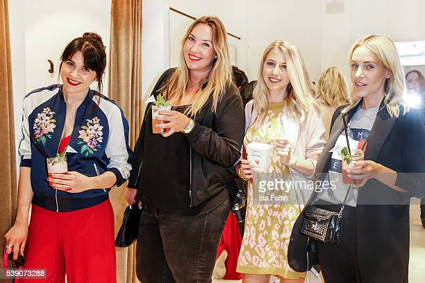 Anja Bauer blogger Verena Prechtl alias Curvey and Blogger Eileen Jordan and guests attend the EDITEDthelabel Store Event on June 9 2016 in Munich...