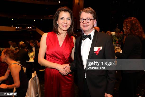 Anja Broeker and Florian Reuther attend the 8th Opera Gala Bonn for the benefit of the German AIDS Foundation at Opera Bonn on May 11 2019 in Bonn...