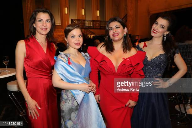 Anja Broeker Olena Tokar Veronika Dzhioeva and Lilly Jorstad attend the 8th Opera Gala Bonn for the benefit of the German AIDS Foundation at Opera...