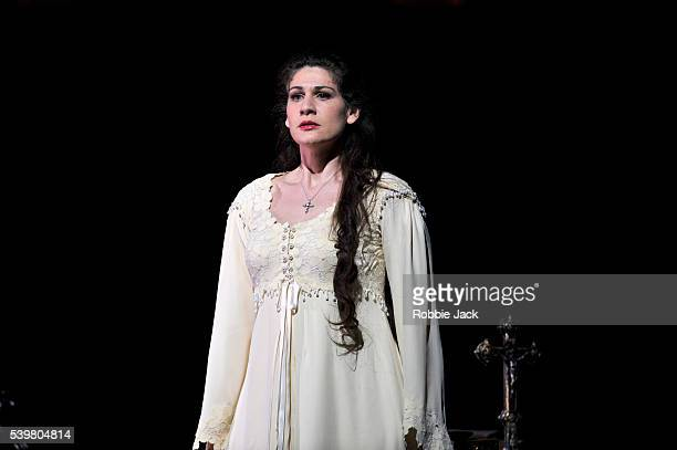 Anja Harteros as Elizabeth of Valois in the Royal Opera's production of Giuseppe Verdi's Don Carlo directed by Nicholas Hytner and conducted by...