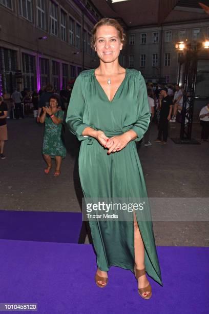 Anja Heyde during the 'Nineties' Vernissage on August 2 2018 in Berlin Germany
