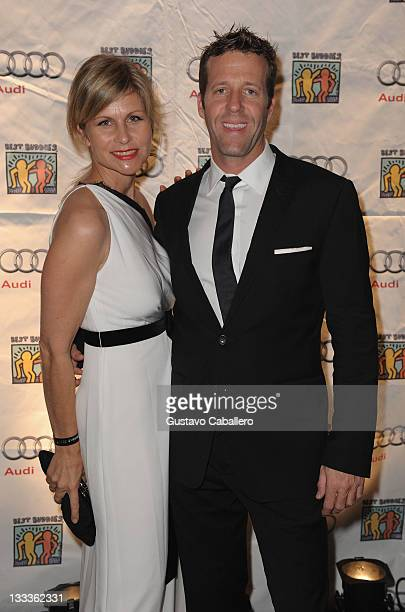 Anja Kaehny of Audi and Michael Patrick of Audi of America arrive at The Fifteenth Annual Best Buddies Miami Gala at Fontainebleau Miami Beach on...