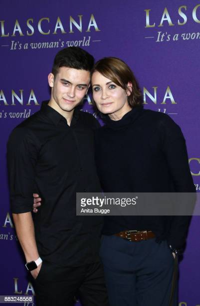 Anja Kling and her son Tano attend the the opening of the 'Sound of Passion' exhibition at Hotel De Rome on November 30 2017 in Berlin Germany