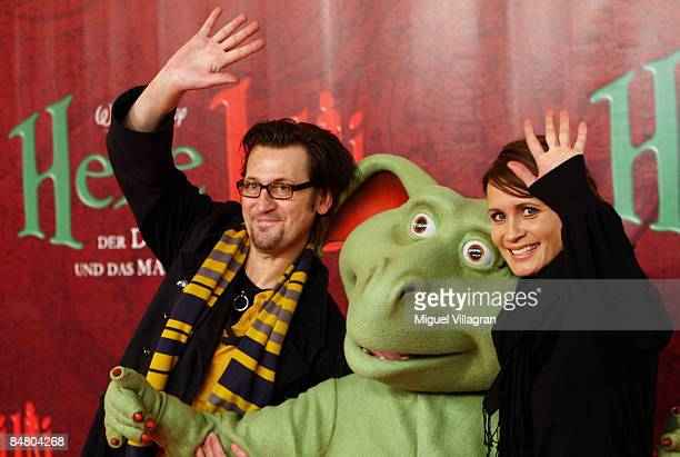 Anja Kling and Ingo Naujoks pose for the media during the premiere of the movie 'Lilli The Witch The Dragon And The Magical Book' on February 15 2009...
