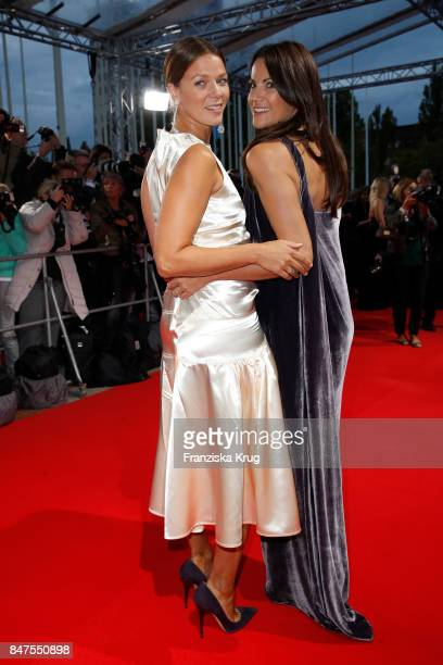 Anja Kling and Jessica Schwarz attend the UFA 100th anniversary celebration at Palais am Funkturm on September 15 2017 in Berlin Germany