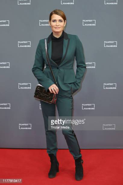 "Anja Kling attends the ""Aus Haut und Knochen"" premiere during the Hamburg Film Festival on September 28, 2019 in Hamburg, Germany."