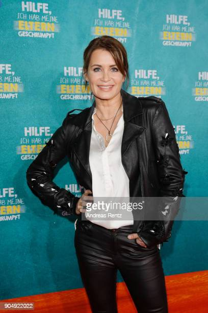 Anja Kling attends the premiere of 'Hilfe, ich hab meine Eltern geschrumpft' at Cinedom on January 14, 2018 in Cologne, Germany.