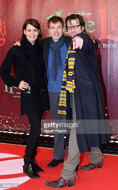 Anja Kling German comedian Michael Mittermeier and Ingo Naujoks pose for the media during the premiere of the movie 'Lilli The Witch The Dragon And...