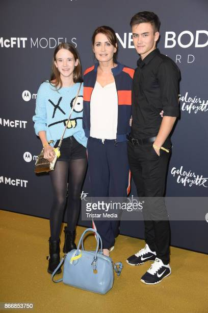Anja Kling her daughter Alea Kling and her son Tano Kling attend the New Body Award By McFit Models on October 26 2017 in Berlin Germany
