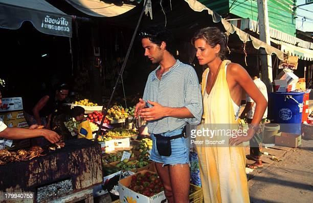 Anja Kling, Lebensgefährte Jens Solf, Insel Koh Samui/Thailand, Urlaub, Markt,