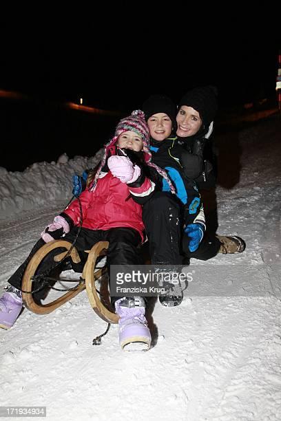 Anja Kling Mit Sohn Tano Und Tochter Alea Beim Tirol Cross Mountain 2011 In Kühtai