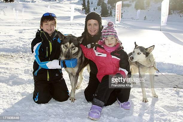 Anja Kling Und Sohn Tano Und Tochter Alea Beim Tirol Cross Mountain 2011 In Kühtai