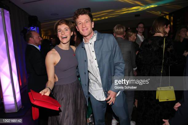 Anja Knauer and Artjom Gilz attend the Berlin Opening Night by Bertelsmann Content Alliance at hotel Das Stue on February 20 2020 in Berlin Germany