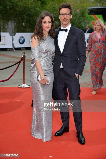 Anja Knauer and Florian David Fitz arrive at the German Film Award 2019 at Palais am Funkturm on May 3 2019 in Berlin Germany