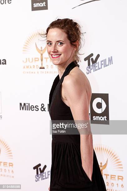 Anja Knauer and smart attend the Jupiter Award 2016 on April 06 2016 in Berlin Germany