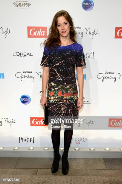Anja Knauer attends the Berlin Opening Night Of Gala Ufa Fiction during the 64th Berlinale International Film Festival at Hotel Das Stue on February...
