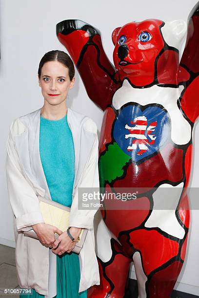 Anja Knauer attends the Hessian Reception on February 16 2016 in Berlin Germany