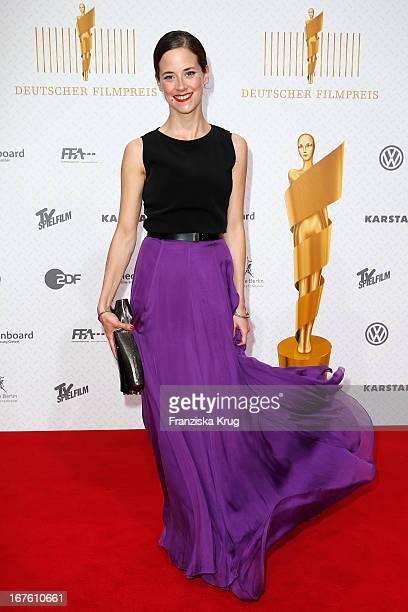 Anja Knauer attends the Lola German Film Award 2013 at Friedrichstadt-Palast on April 26, 2013 in Berlin, Germany.
