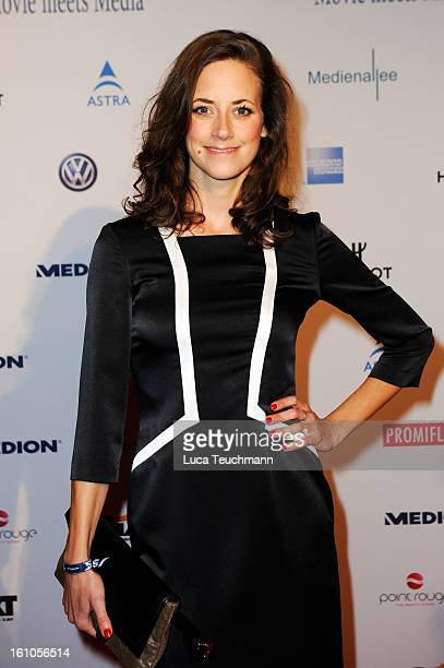 Anja Knauer attends the Movie Meets Media Gala during the 63rd Berlinale International Film Festival at the Ritz Carlton Hotel on February 8 2013 in...