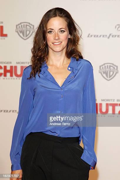Anja Knauer attends the 'Schutzengel' Premiere at CineStar on September 18 2012 in Berlin Germany